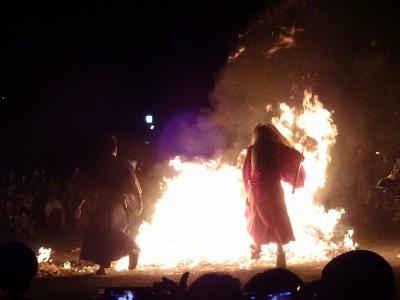 のとやちえこ 旅の絵手紙 古平 琴平神社祭 天狗火渡り 札幌発着 (7/9) 札幌
