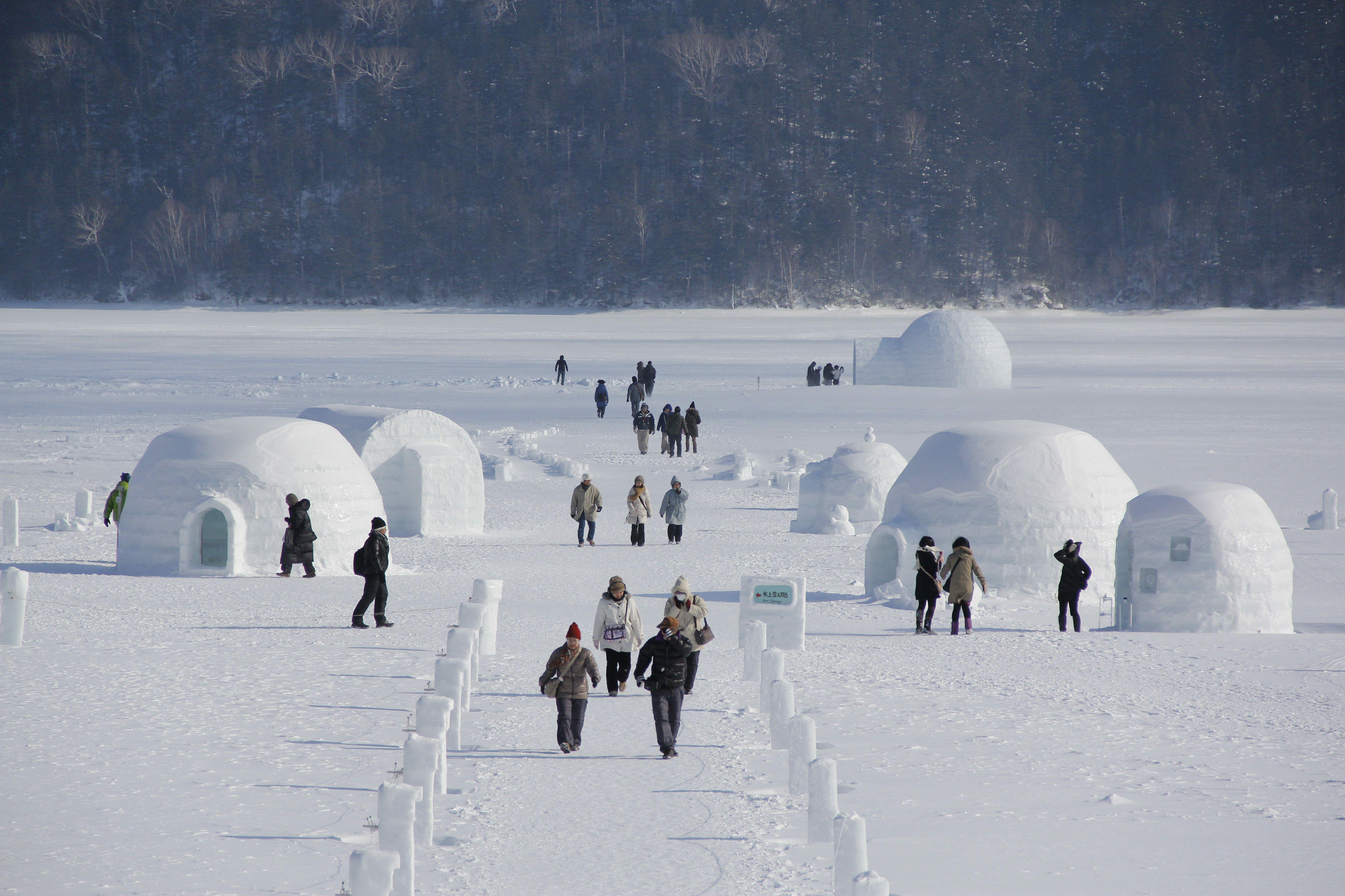 然別湖の氷上イベント コタン 体験と十勝の美術館巡り 札幌発着 (2/20) 札幌